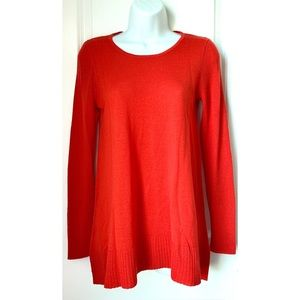 5 FOR $20 - Kenar Red Merino Wool Tunic Sweater
